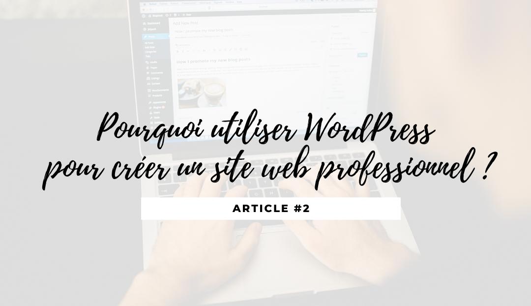 Pourquoi réaliser son site web professionnel avec WordPress ?